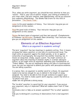 Argument Online Ebook