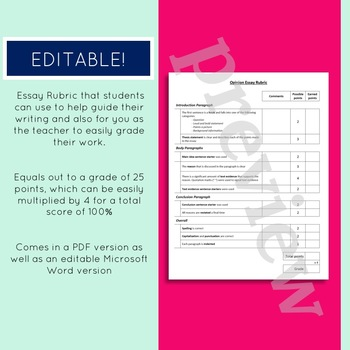 Argument / Opinion Step-by-Step Essay Organizer (Counterclaim Option Included)