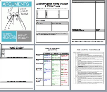 Argument Writing Bundle: Everything You Need! Common Core Aligned!! (CER)