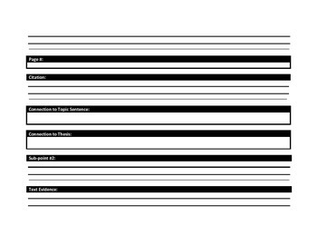 Argument Paper Organizer