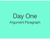 Argument Paragraph - loosely follows MAISA unit