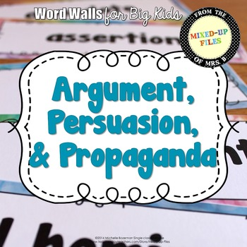 Argument, Persuasion and Propaganda Word Wall