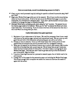 Argument-Persuasive Research Paper