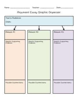 Argument Planner/Graphic Organizer - Common Core Aligned