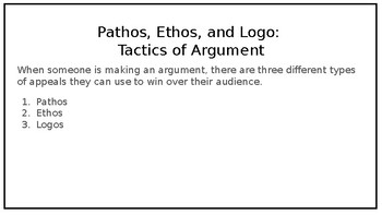 Creating Argument in Different Mediums