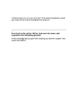 Argument Quick Write