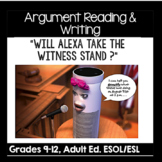 ESL Argument Reading and Writing Assignment