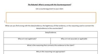 Argument - Rebuttal Graphic Organizer