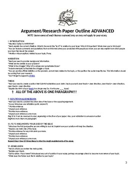 Argument Research Paper Criteria and Handouts