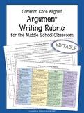 Argument Rubric | Standards-Based Grading Rubric for Argumentative Writing