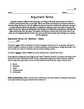 Argument Terms and Theory