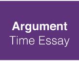 Argument - Time Essay - Standards-Based Lessons