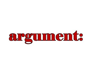 Argument Vocabulary Word Wall