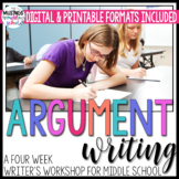 Argument Writing Unit for Middle School - Distance Learning