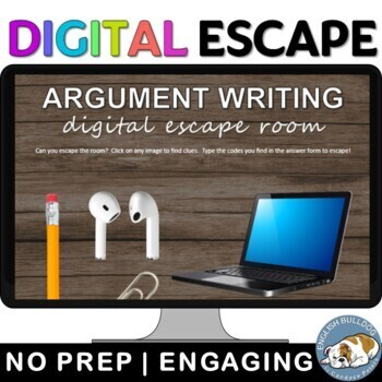 Argument Writing Breakout Box Escape Room Game