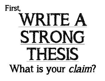 Argument Writing Bulletin Board- Citations, Warrants, Thesis
