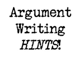 Argument Writing Bulletin Board- Citations, Warrants, Thesis
