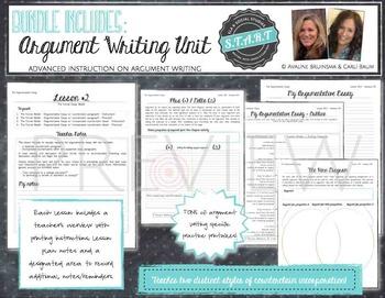 Argument Writing Bundle (Argumentative Essay, Source Analysis & Note Taking)