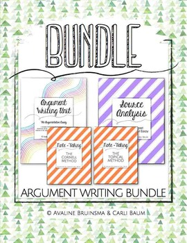 Argument Writing Bundle (Argumentative Essay, Source Analy