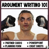 Argument Writing 101: PowerPoint, Cheat Sheet and Paired Activity Cards
