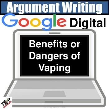 "Google Digital Resource Argument Writing ""Dangers of Vaping"""