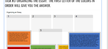 Argument Writing Digital Escape Room