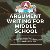 Argument Writing Essay Analysis activity and Peer and Self