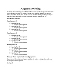 Argument Writing Handout Activity
