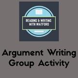 Argument Writing Intro Activity