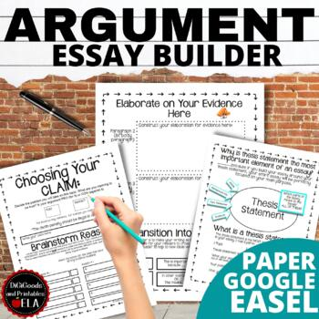 argument writing middle school thesis statement centered  tpt