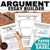 Argument Writing Middle School: Thesis Statement Centered
