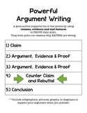 Argument Writing Organizer