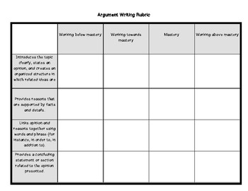 Argument Writing Pack (Using a Variety of Mentor Texts)
