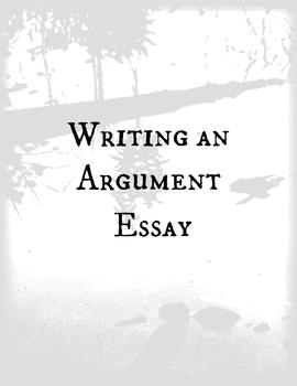 Argument Writing Packet