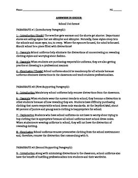 Argument Essay Writing Paragraph Pieces