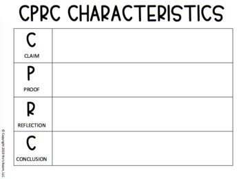 Argument Writing Paragraph Structure Using CPRC Method- AVAILABLE IN GOOGLE DOCS