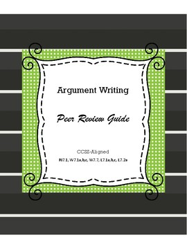 Argument Writing Peer Review Guide