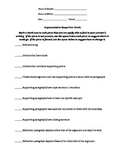Argument Essay Writing Peer Revision Sheet