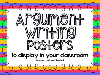 Argument Writing Posters
