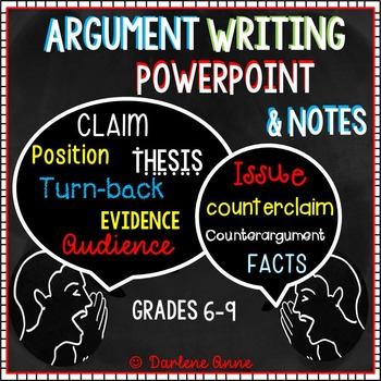ARGUMENTATIVE WRITING POWERPOINT AND NOTES