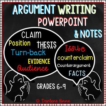 Writing an argumentative essay middle school