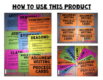Argument Writing Process Cards