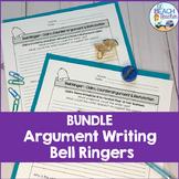 Argument Writing Prompts Bell Ringers Bundle