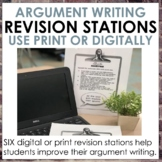 Argument Writing Revision Stations