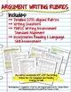 Argument Writing & Rubrics Common Core/PARCC Grades 9-10
