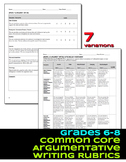 Argument Writing Rubrics Grades 6-8 Common Core