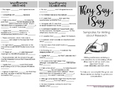 Argument Writing Sentence Starters