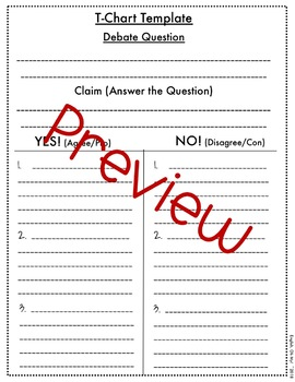 Argument Writing, Templates, Worksheets