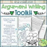 Argument Writing, Toolkit, Templates, Worksheets