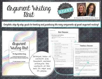 Argument Essay Writing Unit Common Core Aligned - Grade 6-12